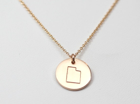 1 2 inch state charm necklace by madebymaryshop on etsy