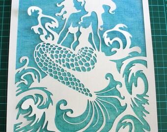 Paper Cut Art, Paper Cutting Art, Paper Cut Out, Wall Art, Pictures, Papercut, Paper Cut, Papercutting, Paper Cutting, Papercut Art, Mermaid