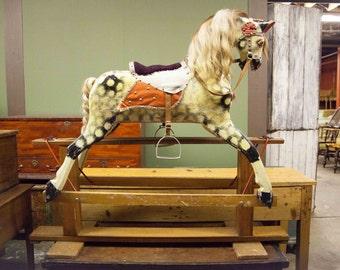 English Platform Rocking Horse in EXCELLENT Condition