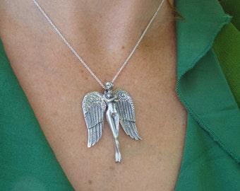 Faith Silver Angel Pendant