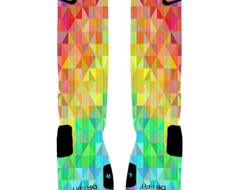 Custom Colorful Prism Socks Custom Nike Elite Socks