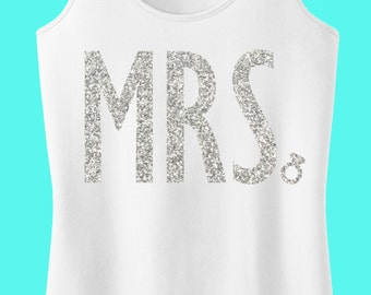 MRS. GLITTER Bride Tank Top, Bride tank, Wedding shirt, Bridal tank, Bride shirt, wedding