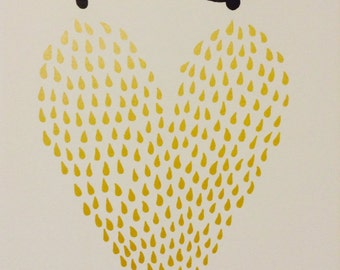 Liquid Gold Screen Print - Hand-Printed Silkscreen Poster - Breastfeeding - Nursing - Baby Shower