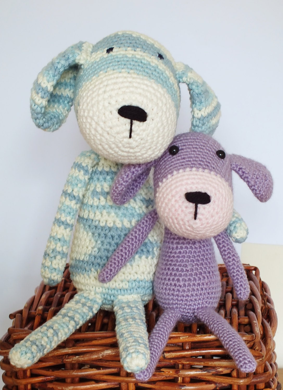 Amigurumi Crochet Puppy Pattern : Crochet Dog Amigurumi Pattern INSTANT DOWNLOAD PDF Easy