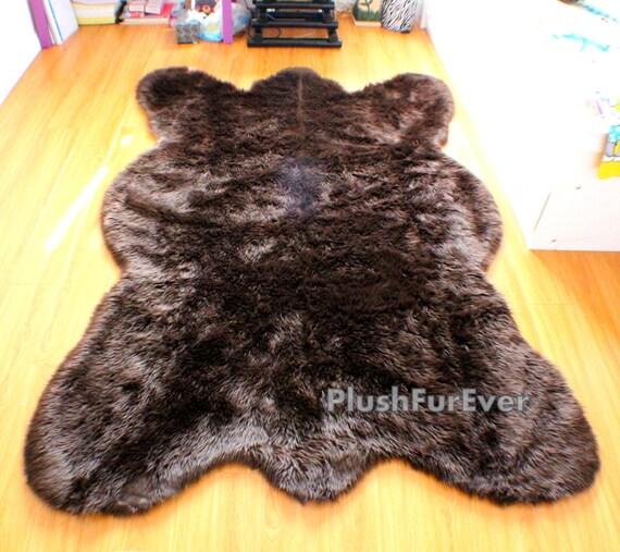 Big Brown Bear Faux Rug by PlushFurever