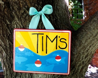 Personalized Fishing Sign