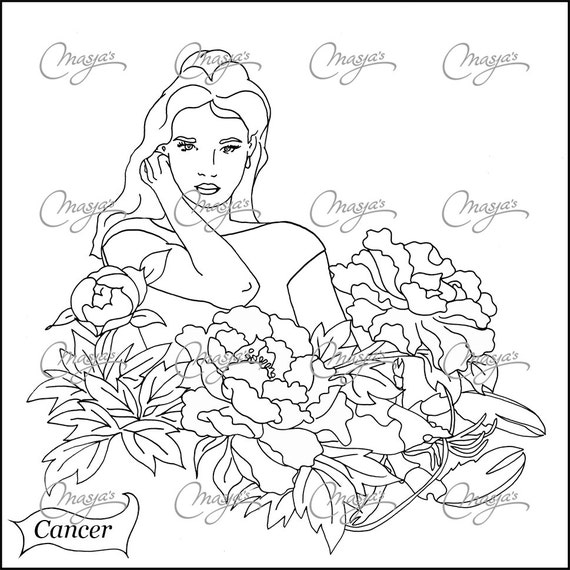 astrological signs coloring pages - photo#21