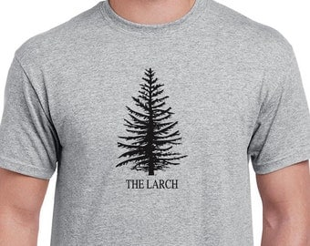 The Larch T-shirt inspired by Monty Python's Flying Circus TV show.
