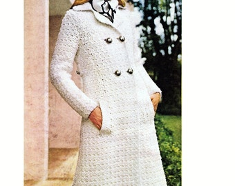Crochet Classy Paris Double Breasted Coat Pattern