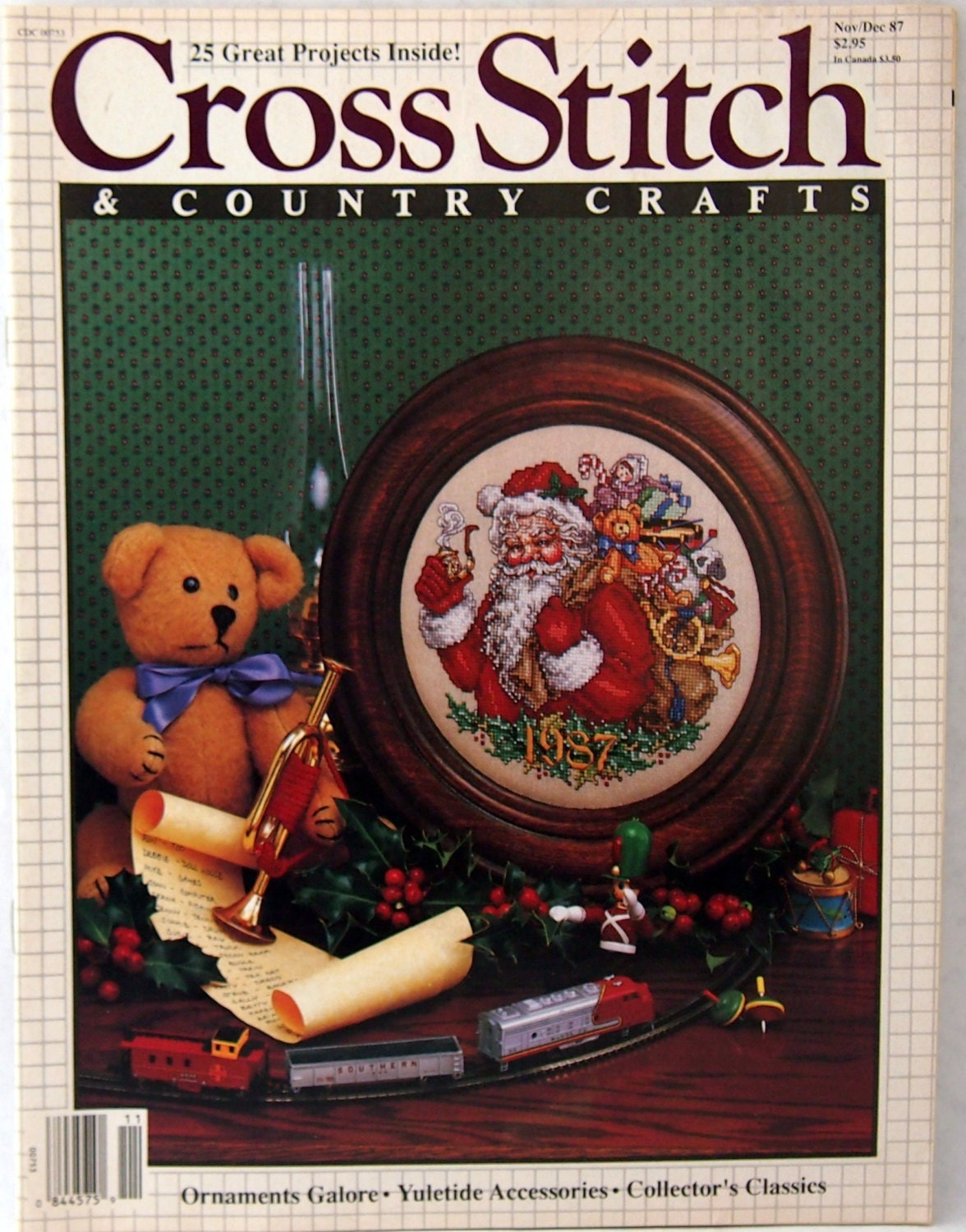 Cross stitch and country craft cross stitch pattern magazine for Country living magazine cross stitch