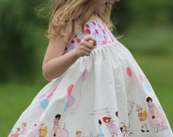 The Suzie Twirly Halter Dress is available in sizes 3T to 8