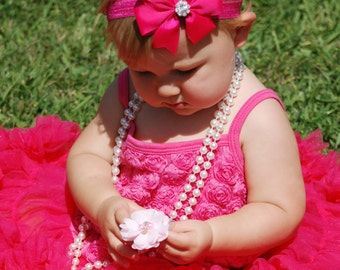 Hot Pink Headband, Baby Headband, pinwheel bow, hair bows,  toddler headband, photo prop