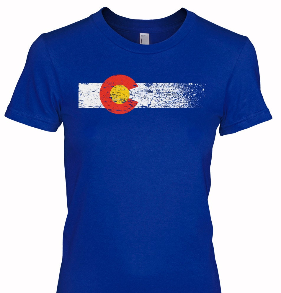 Loyaltee colorado flag women 39 s t shirt free for Best place to get t shirts printed