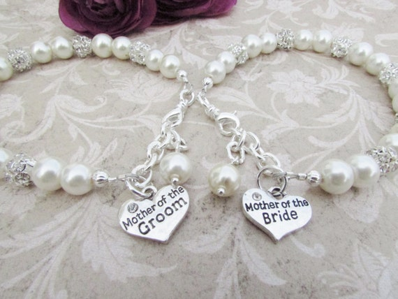 Wedding Planning Gift For Bride: Mother Of The Bride Bracelet Mother Of The Groom Mother Of The