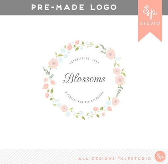 Pre-Made Logo Design 'Blossoms' // Graphic Design // Business Branding