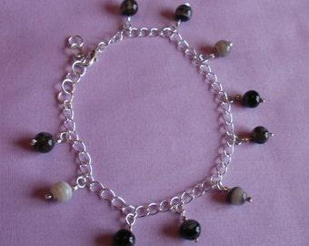 Black Lace Agate Bracelet