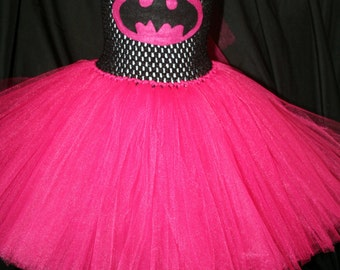 Bat Girl Inspired Tutu Dress, Bat Girl Tutu Dress, Superhero tutu, Superhero Tutu Dress, Bat Girl Costume, Halloween Costume, Girls Costumes