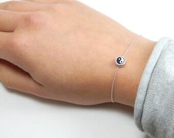 Sterling silver Yin yang bracelet, yin-yang bracelet, silver bracelet, sterling silver bracelet, gift bracelet, charm bracelet 098