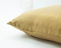 Gold  Euro sham Silk Pillow cover 26x26, Made of Luxury Chevron Silk Brocade.