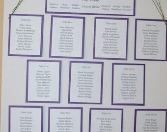 personalised wedding table plans