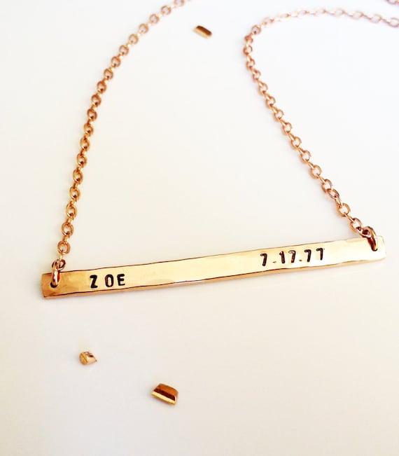 nameplate necklace rose gold personalized necklace name. Black Bedroom Furniture Sets. Home Design Ideas