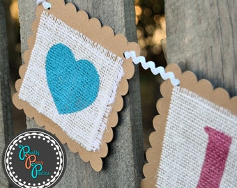 Save the Date Burlap Wedding Banner