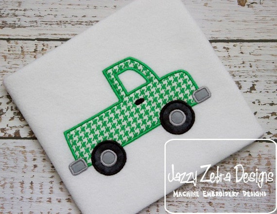 Truck Applique embroidery design - truck appliqué design - boy applique design