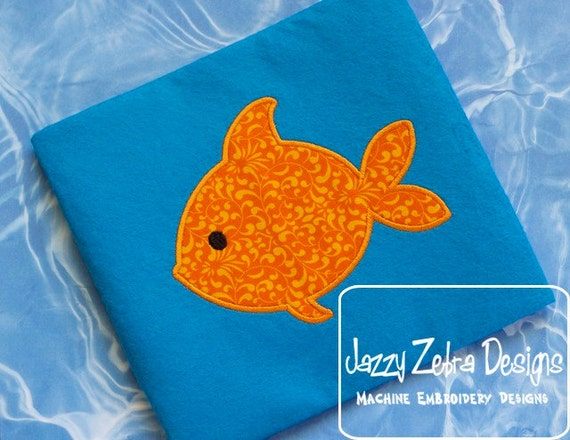 Fish 2 Appliqué Embroidery Design -beach appliqué design - fishing applique design - Fish applique design