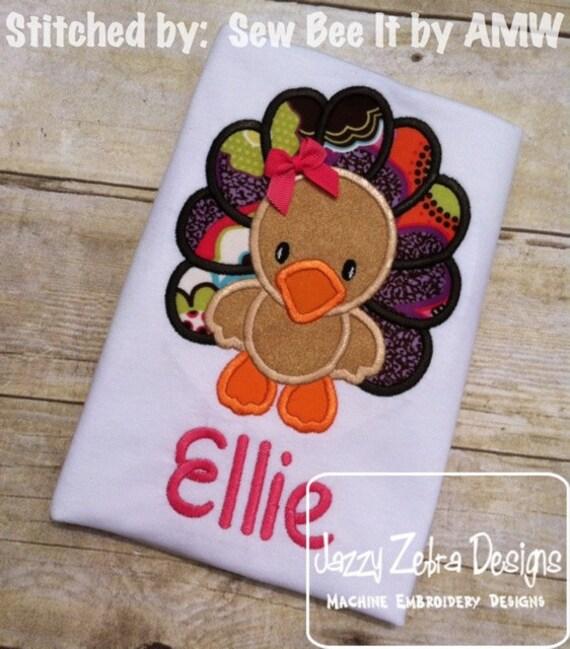 Turkey 35 Applique embroidery Design - Turkey Applique Design - Thanksgiving Applique Design