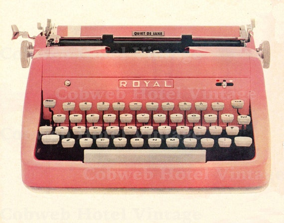 vintage de t l charger vintage typewriter graphique rose. Black Bedroom Furniture Sets. Home Design Ideas