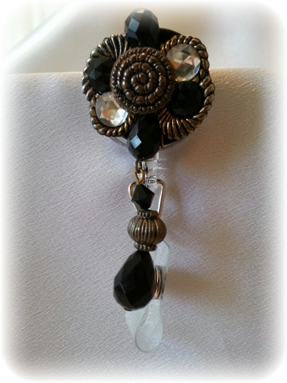 Bejeweled Retractable Badge Holder