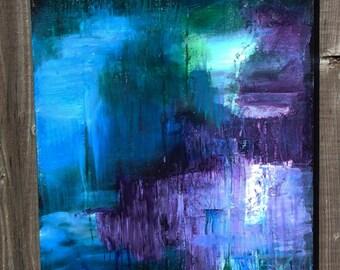 Mystery, an original acrylic painting