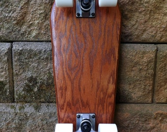 CLEARANCE PRICE, Free Shipping! the Gnome II - Cruiser Skateboard - Old Red Barn - Optional Complete with Trucks and Wheels