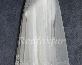 1 Layer wedding veil, tulle bridal veil, eyelash lace veil, single wedding veils, bridal accessories