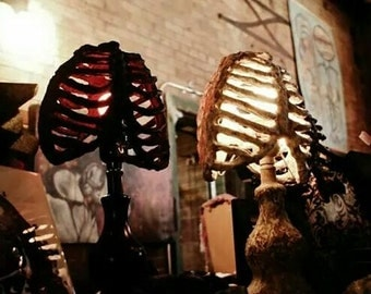 Halloween Lighting - Solid Color- Rib Cage Accent Lamp and Shadow Caster