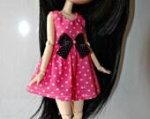 Pink Dress for pullip or Blythe Doll