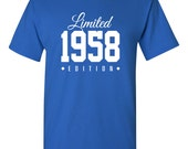 1958 Limited Edition 58th Birthday Party Shirt, 58 years old shirt, limited edition 58 year old, 58th birthday party tee shirt TH-144