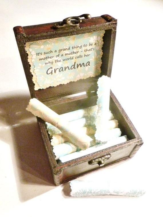 Grandma Scroll Box, Grandma Gift, Quotes About Grandmas in Wood Box, Unique, Personalized, Christmas, Birthday, Grandma Gift, Card, Custom