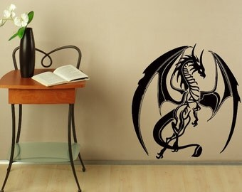 Wall Decals Dragon Decal Vinyl Sticker Home Decor Bedroom Interior Window Decals Living Room Murals  Chu1402