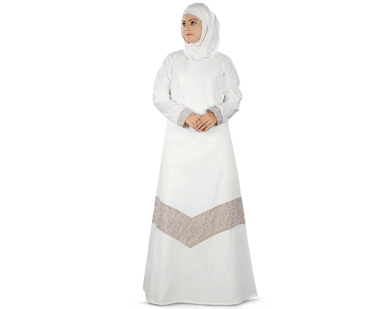 Ihram Kids For Sale Dubai: MyBatua Women's Samaira Prayer White Abaya Online Jilbab