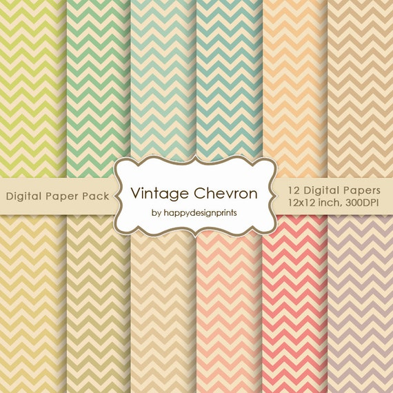 paquet de papier num rique papier peint vintage chevron pastel. Black Bedroom Furniture Sets. Home Design Ideas