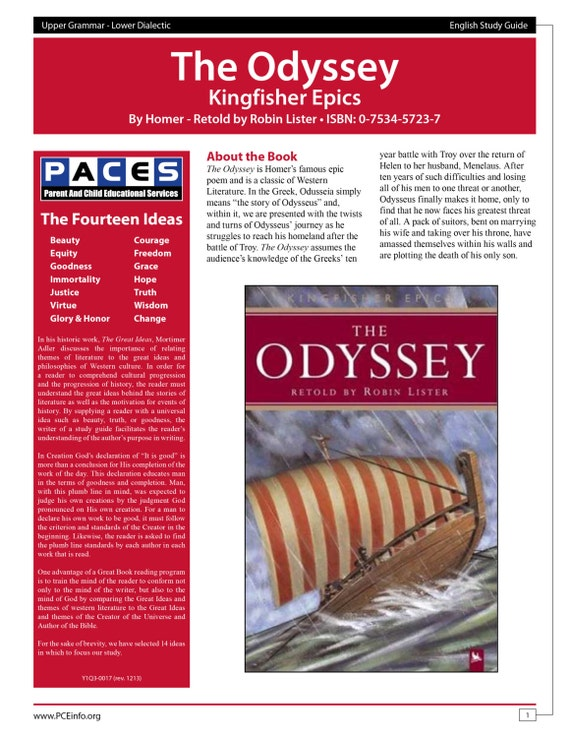 the odyssey book 1 study questions Home literature study guides the odyssey discussion questions page 1 the odyssey study guide also shown in odysseus's visit to laertes in the last book.