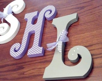 Nursery wall decor, Nursery decor, nursery letters, nursery letters, nursery initials, baby girl nursery letters, nursery wall letters