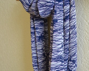 "Silk chiffon infinity scarf  ""PAULINE"" - Circle scarf for women - circle scarves"