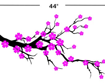 "44"" Cherry Blossom Wall Decal / sticker JA18.44"