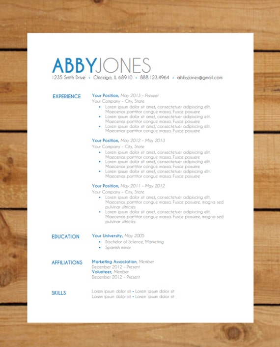 resume template package instant download by clingdesigns on etsy