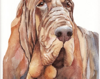 Bloodhound, A High Quality PRINT of my Original Painting