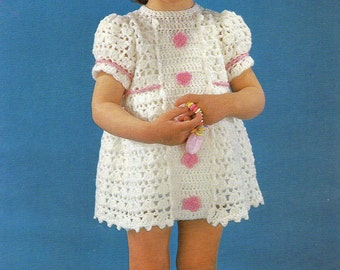 Popular items for girl's crochet dress on Etsy