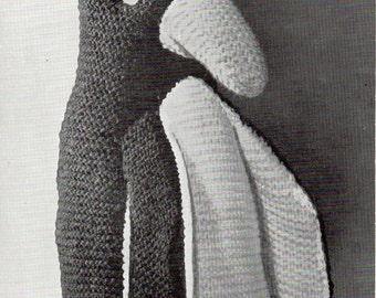 Peter the Penguin Toy Knitting Pattern, PDF Vintage Knitting Pattern No. 293, circa 1940s