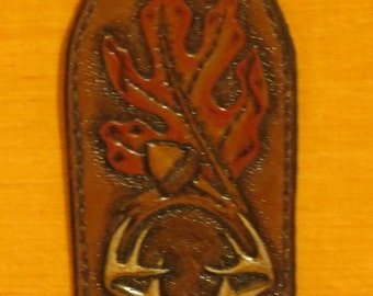 Leather Rifle Sling, Hand carved, tooled and painted